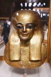 Máscara de Goldy en el museo egipcio fotos de archivo libres de regalías