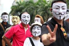 Máscara de Guy Fawkes Imagens de Stock