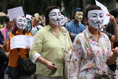 Máscara de Guy Fawkes imágenes de archivo libres de regalías