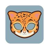 Máscara de Jaguar para las diversas festividades, partidos ilustración del vector
