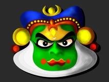 Máscara de Kathakali Foto de archivo libre de regalías