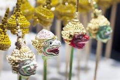 Máscara de Khon - artesanato tailandês imagem de stock