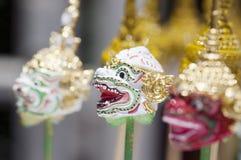 Máscara de Khon - artesanato tailandês foto de stock royalty free