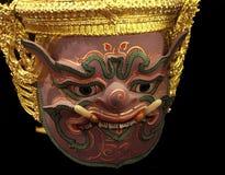 Máscara de Khon de la historia de Ramayana Fotografía de archivo