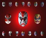 Máscara de la ópera china Foto de archivo
