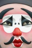 Máscara de la ópera de Pekín. Fotografía de archivo