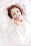 Máscara de la arcilla Foto de archivo libre de regalías