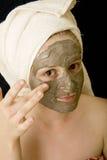 Máscara de la belleza Fotografía de archivo libre de regalías
