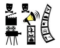 Máscara de la cámara de película de la película Foto de archivo libre de regalías