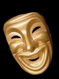 Máscara de la comedia en fondo negro Fotos de archivo libres de regalías