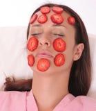 Máscara de la fresa Imágenes de archivo libres de regalías