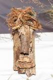 Máscara de la madera y de la corteza Fotografía de archivo libre de regalías