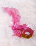 Máscara de la mascarada con la pluma Imagen de archivo
