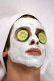 Máscara de limpiamiento Fotos de archivo