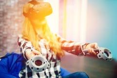 Máscara de los vidrios de VR fotos de archivo