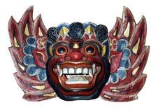 Máscara de madeira Foto de Stock Royalty Free