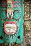 Máscara de madeira colorida tradicional, woodcarving da arte do balinese imagem de stock royalty free