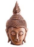 Máscara de madeira de Buddha de Tailândia imagens de stock royalty free