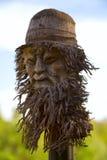Máscara de madeira do homem idoso Imagens de Stock