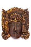 Máscara de madeira indonésia fotografia de stock royalty free
