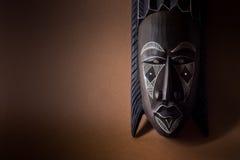 Máscara de madera negra Foto de archivo libre de regalías