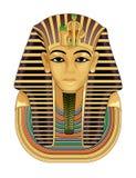 Máscara de muerte de oro del Pharaoh Imágenes de archivo libres de regalías