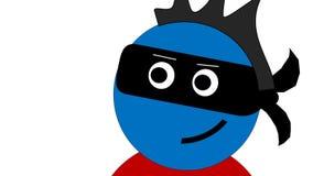 Máscara de olho roxo vestindo do ladrão Fotografia de Stock Royalty Free