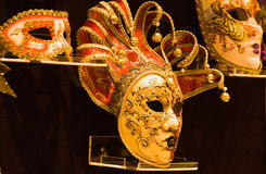 Máscara de oro Imágenes de archivo libres de regalías