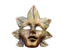 Máscara de oro Foto de archivo libre de regalías