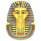 Máscara de oro egipcia de los pharaohs pharaoh stock de ilustración