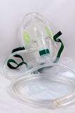 Máscara de oxígeno con el bolso. Foto de archivo