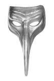 Máscara de plata del carnaval del renacimiento Imagen de archivo libre de regalías