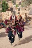 A máscara de Sirige e o Dogon dançam, Mali. Fotos de Stock Royalty Free