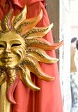 Máscara de Sun em Veneza Fotos de Stock Royalty Free