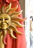 Máscara de Sun en Venecia Fotos de archivo libres de regalías