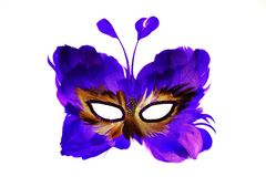 Máscara de una mariposa para los días de fiesta y los carnavales fotos de archivo