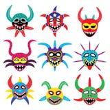 Máscara de Vejigante para o carnaval de Ponce em ícones de Porto Rico Foto de Stock Royalty Free