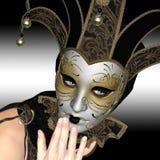 Máscara de Venitian Fotografía de archivo