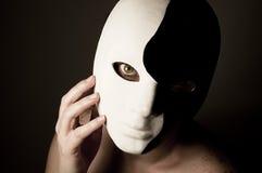 Máscara de Yin y de Yang Imagen de archivo libre de regalías