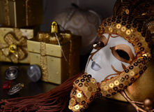 Máscara del Año Nuevo Foto de archivo libre de regalías