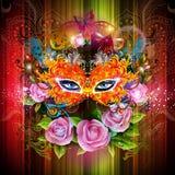 Máscara del carnaval Stock de ilustración