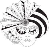 Máscara del carnaval ilustración del vector