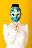 Máscara del carnaval Fotografía de archivo