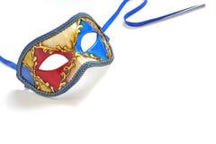 Máscara del carnaval aislada Fotografía de archivo