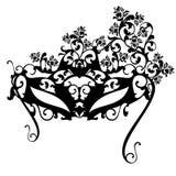 Máscara del carnaval con diseño negro del vector de las rosas Foto de archivo