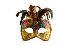 Máscara del carnaval con las plumas Foto de archivo libre de regalías