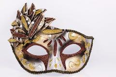 Máscara del carnaval de Brown con los cequis Fotos de archivo libres de regalías