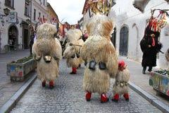 Máscara del carnaval de los kurents de Ptuj Fotografía de archivo libre de regalías