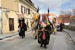 Máscara del carnaval de los kurents de Ptuj Fotos de archivo libres de regalías