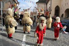 Máscara del carnaval de los kurents de Ptuj Imágenes de archivo libres de regalías